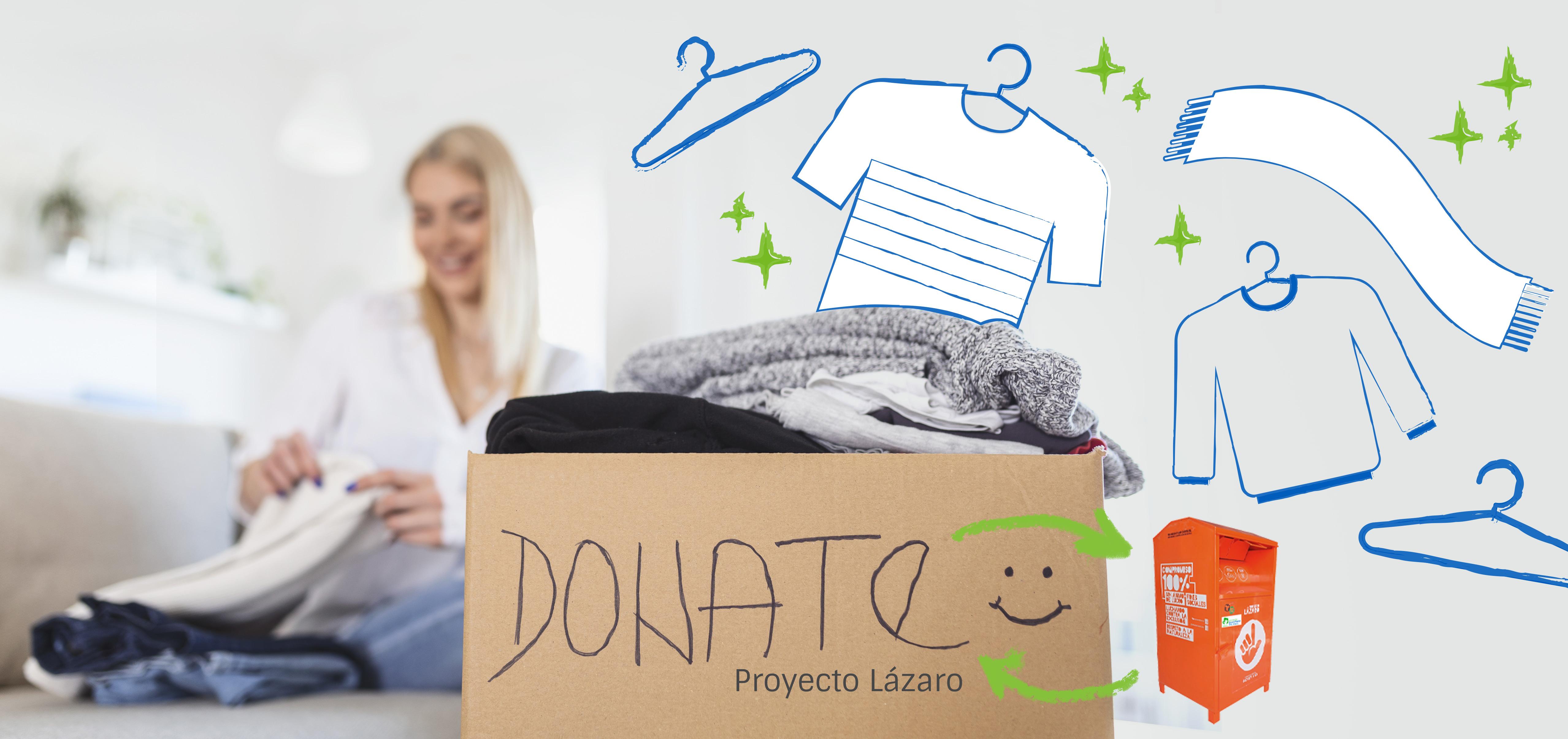 Contamos con un contenedor solidario de Proyecto Lázaro